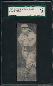 Jimmie Foxx 1933 Butter Cream