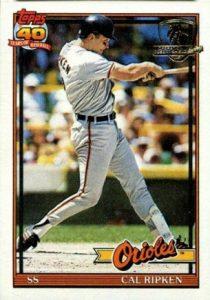 Cal Ripken 1991 Topps Desert Shield