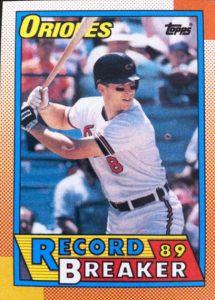 Cal Ripken record breaker 1990 Topps