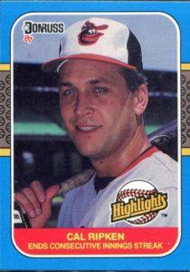 Cal Ripken 1987 Donruss Highlights
