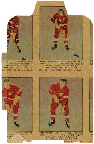 Parkhurst hockey wrapper 1952-53