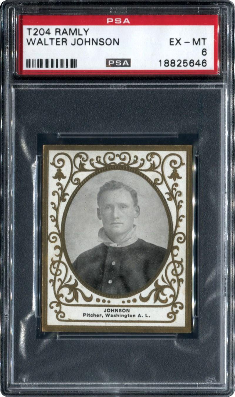 Walter Johnson 1909 Ramly PSA 6