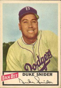 1954 Dan Dee Duke Snider