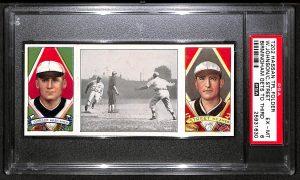 Walter Johnson 1912 T202 Hassan Triple Folders