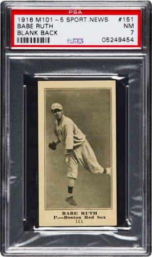 M101-5 Babe Ruth 1916 rookie card