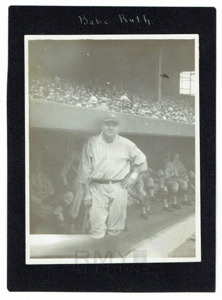 Babe Ruth 1920 photograph