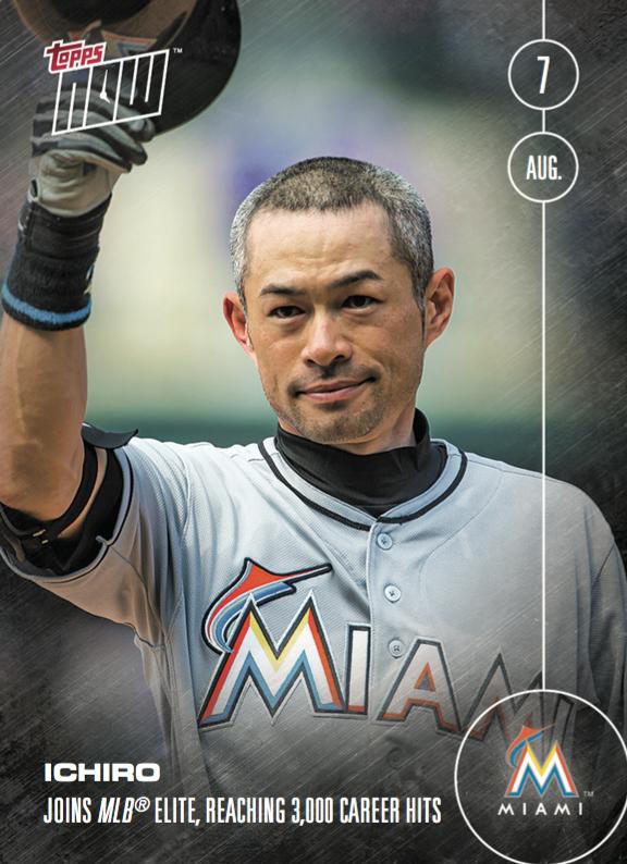 2016 Topps NOW Ichiro 3000 hits card