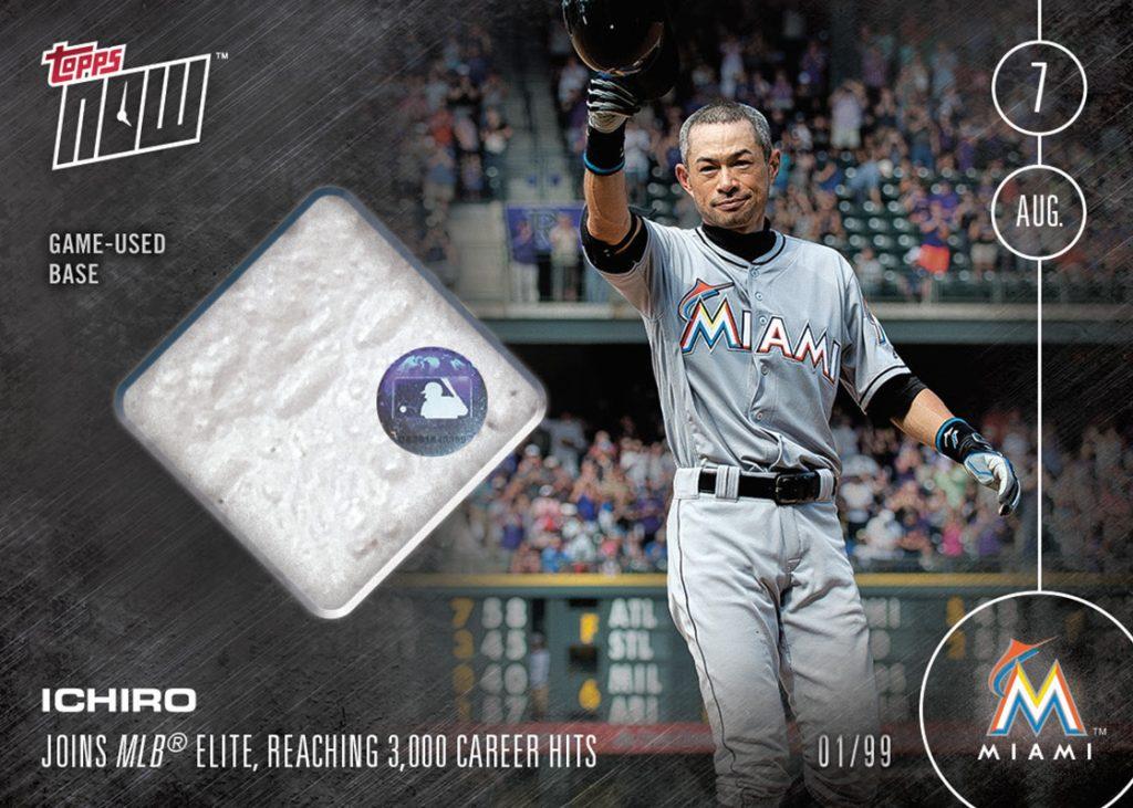 Ichiro Topps NOW game used base