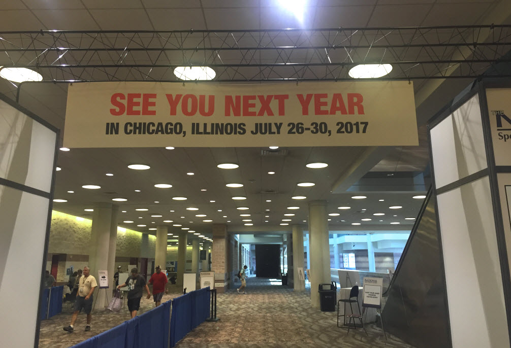 Farewell Sign 2016 National Sports Collectors Convention