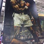 Stephen Holland painting Muhammad Ali