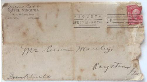Handwritten Ty Cobb envelope