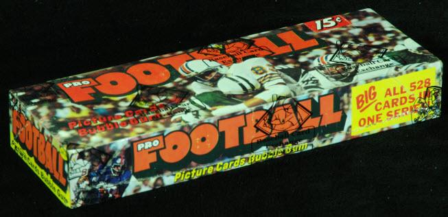 Unopened 1974 Topps football box