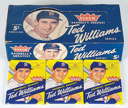 Ted Williams packs 1959 Fleer
