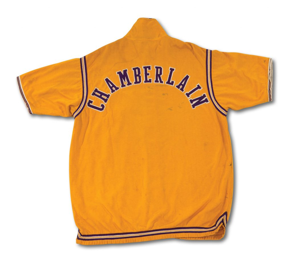 1971-72 Wilt Chamberlain Lakers warmup jacket
