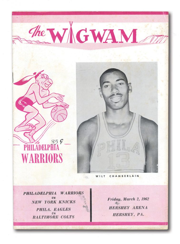 100-point game Wilt Chamberlain program