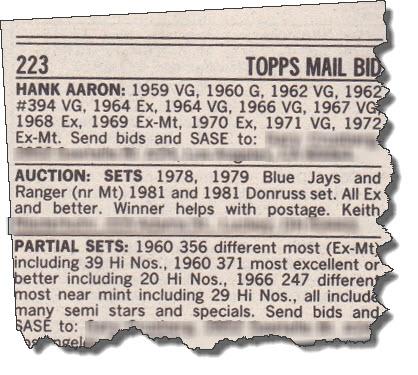 classified ad SCD 1982