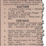 SCD ad 1982 auction