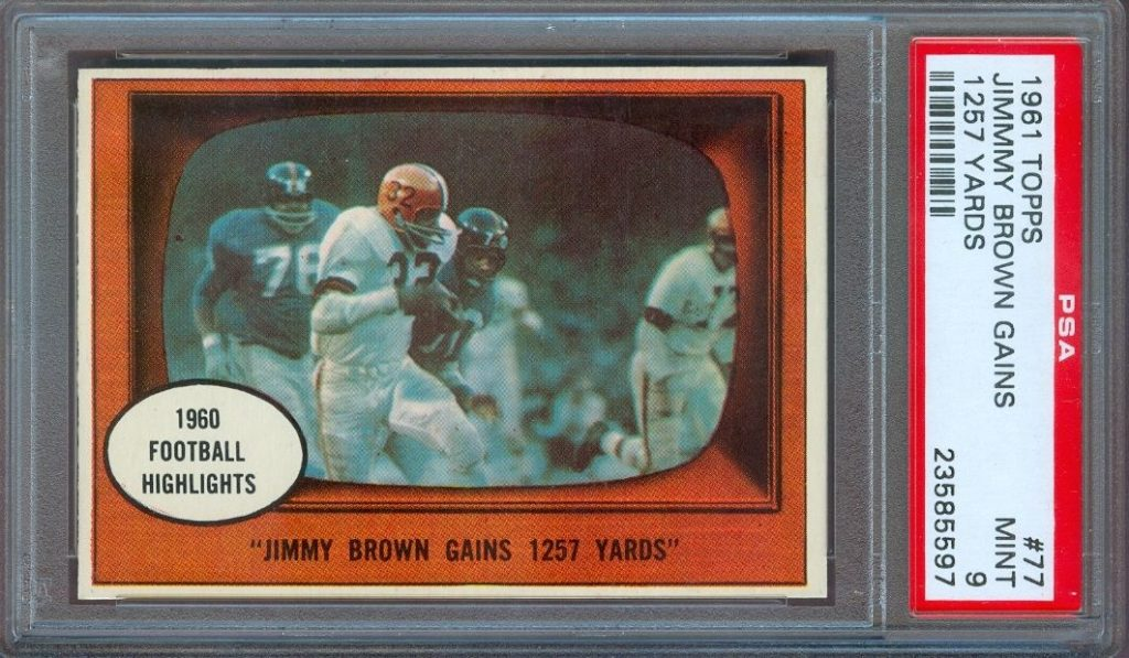 1961 Jim Brown Action PSA 9