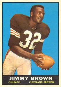 Jim Brown 1961 Topps football