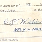 Joe Jackson signed document
