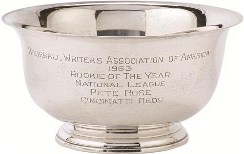 Pete Rose Rookie of the Year award 1963