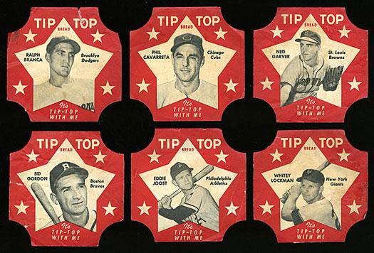 TipTop Bread labels 1952