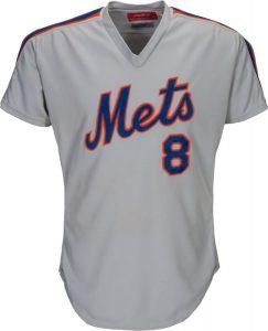 Game worn Gary Carter Mets road jersey 1985