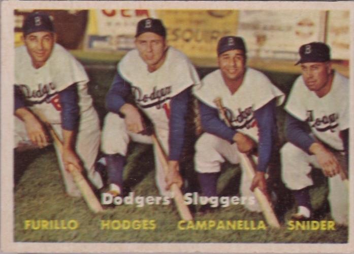 1957 Topps Dodgers Sluggers No. 400
