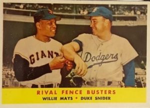 1958 Topps Duke Snider (with Willie Mays)