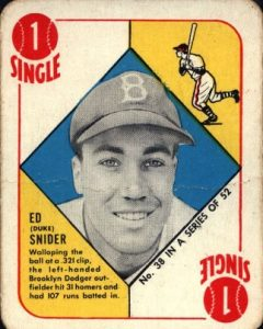 1951 Topps Red Backs Duke Snider