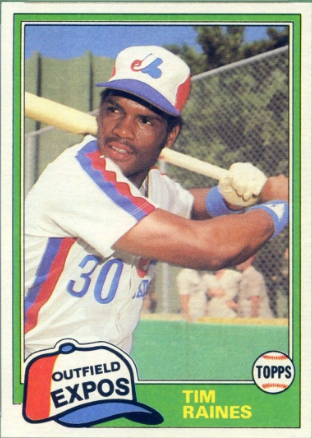 Tim Raines Topps Traded Rookie Card