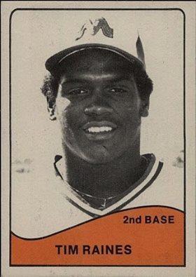 Memphis Chicks 1979 Tim Raines TCMA card