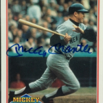 1991 Score Mickey Mantle autograph