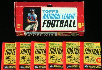 Topps 1963 football box-packs