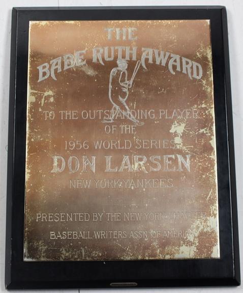 1956 Babe Ruth Award Don Larsen