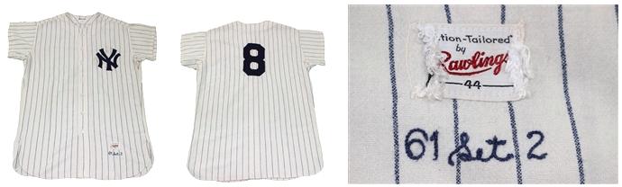 Yogi Berra game worn Yankees jersey