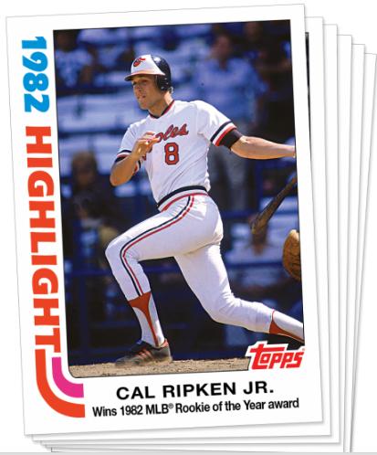 Cal Ripken Topps Throwback Thursday cards