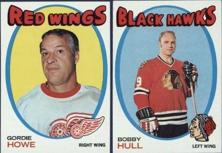 Topps hockey 1971-72 Howe Hull