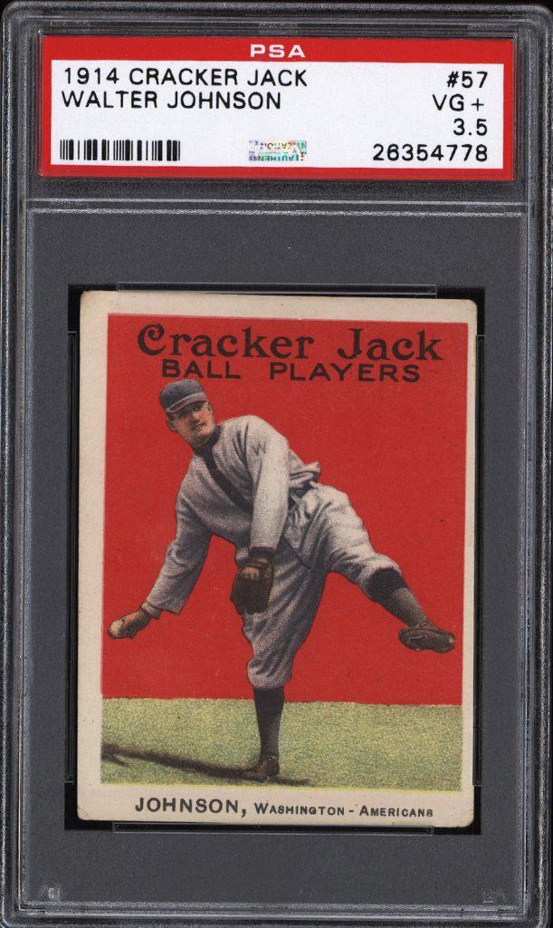 Walter Johnson 1914 Cracker Jack