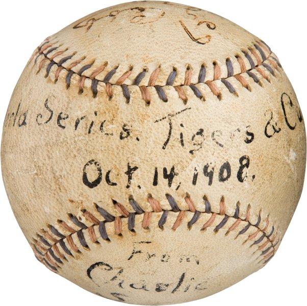 Cubs 1908 World Series used baseball