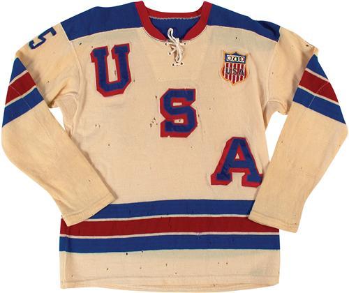 1960 Olympic hockey jersey Paul Johnson