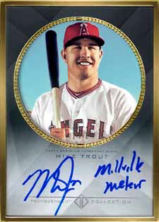 Mike Trout 2016 Topps Transcendent Baseball Mike Trout auto