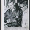 Roger Maris 1959 Armour autograph session