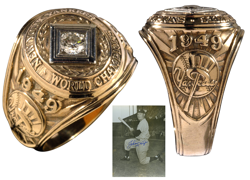 1949 Johnny Mize World Series ring