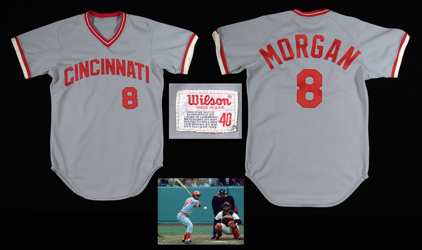 Game worn Joe Morgan Reds jersey