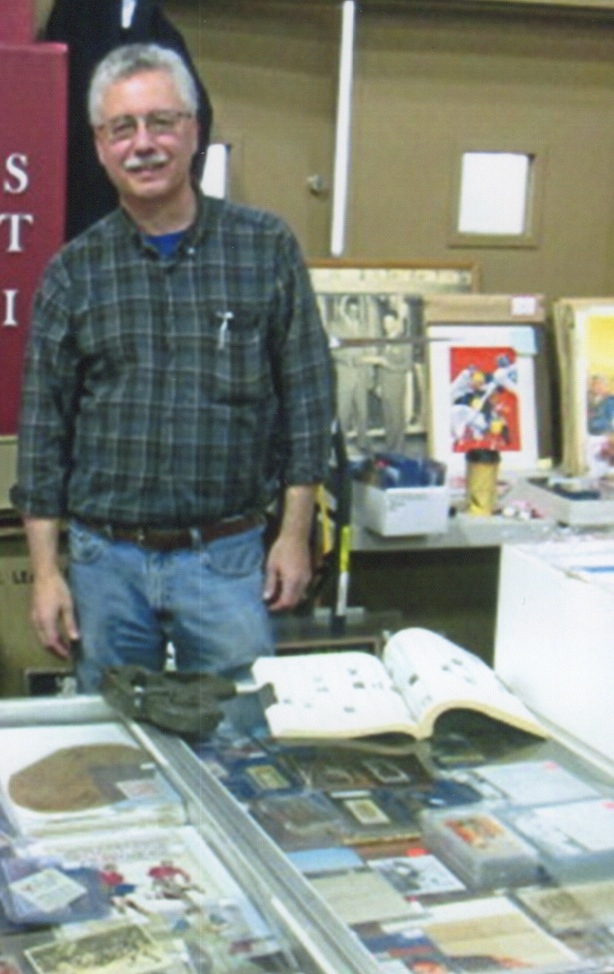 Sal Dichiera of Amazing Adventures in San Mateo, California, has PCL cards, pre-World War II major-league cards and Cal -Stanford football items going back to the 19th century. Photo courtesy Mark Macrae.