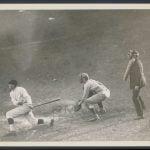 Walter Johnson batting 1920s photo
