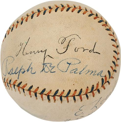 Autographed Henry Ford baseball
