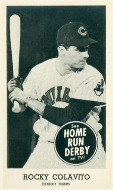 Rocky Colavito 1960 Home Run Derby card