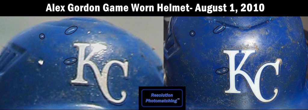 Alex Gordon helmet photo match